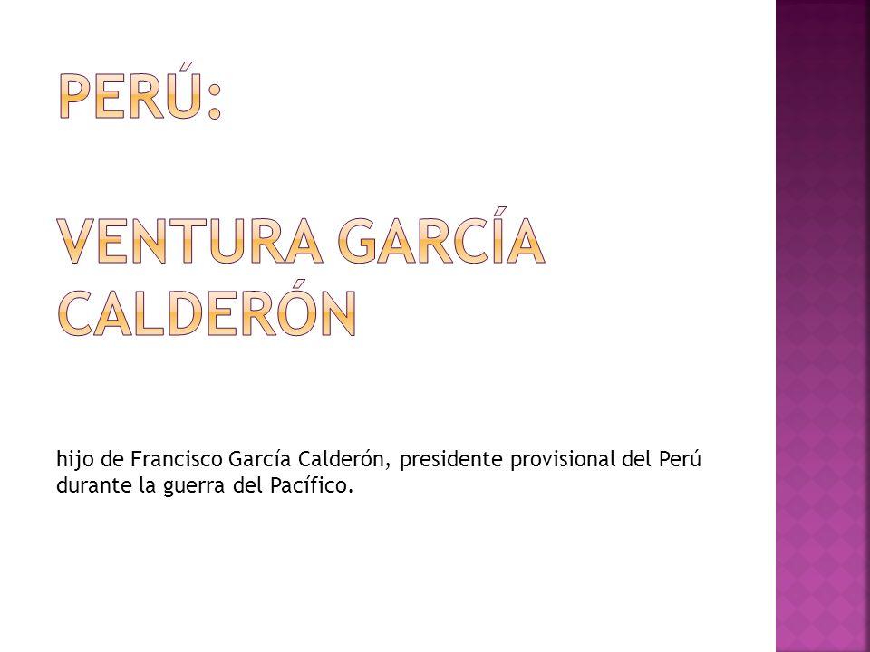 Perú: ventura García calderón
