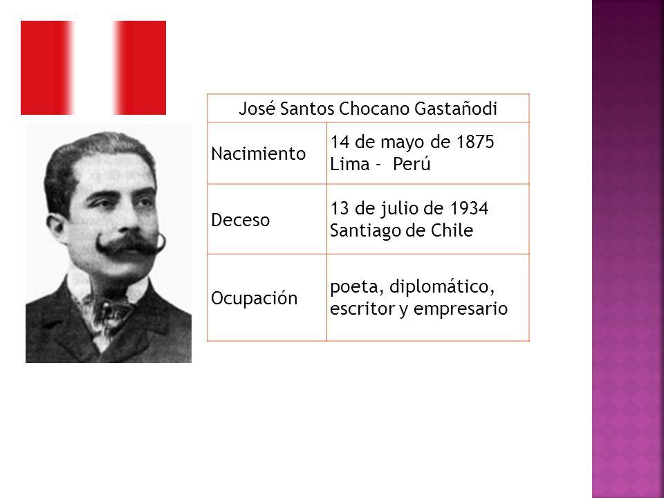 José Santos Chocano Gastañodi