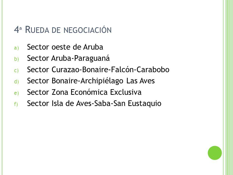 4ª Rueda de negociación Sector oeste de Aruba Sector Aruba-Paraguaná