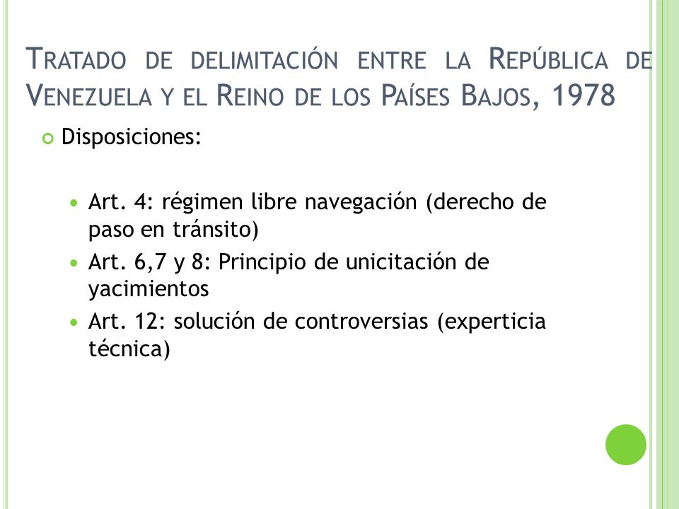 Tratado de delimitación entre la República de Venezuela y el Reino de los Países Bajos, 1978