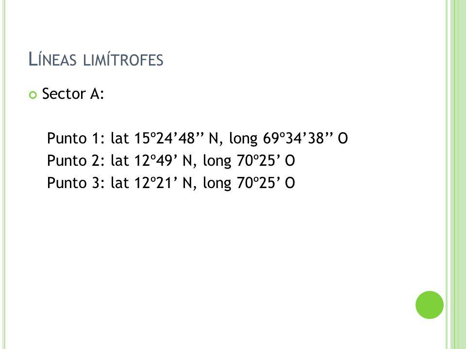 Líneas limítrofes Sector A:
