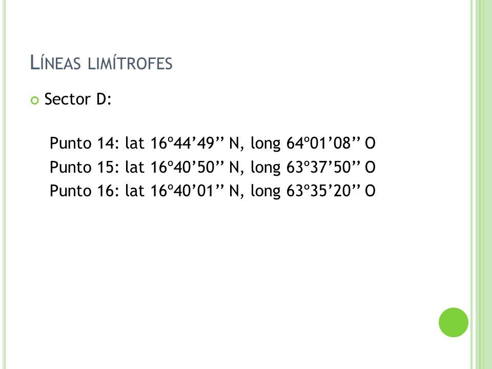 Líneas limítrofes Sector D:
