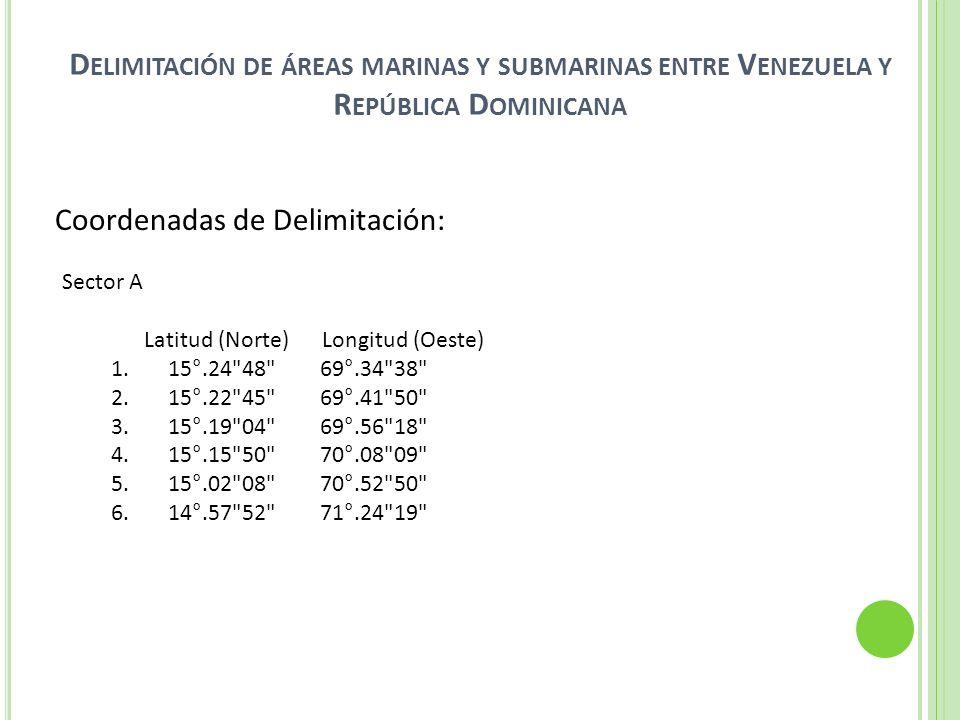 Delimitación de áreas marinas y submarinas entre Venezuela y República Dominicana