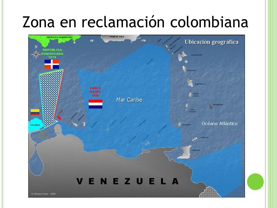 Zona en reclamación colombiana