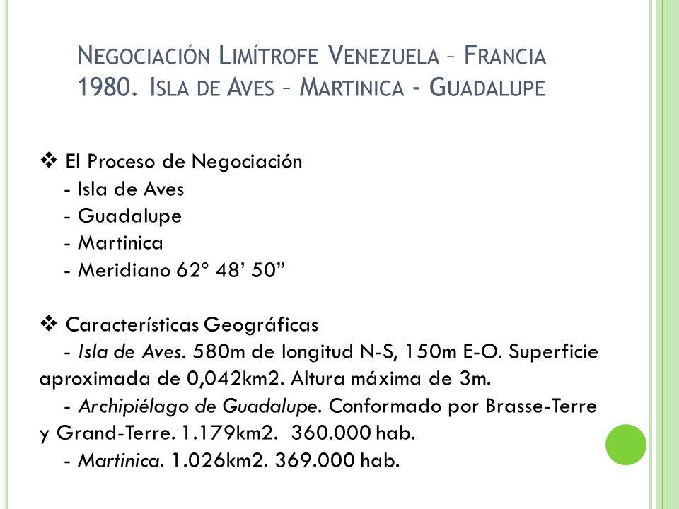 Negociación Limítrofe Venezuela – Francia 1980