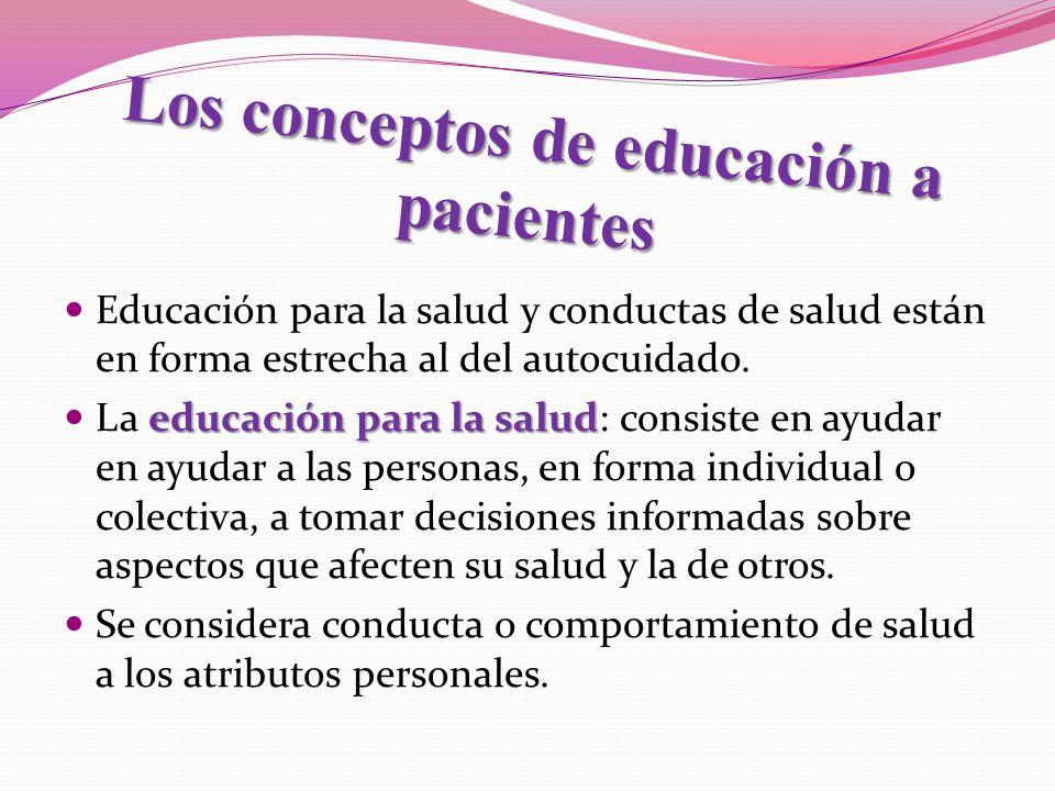 Los conceptos de educación a pacientes