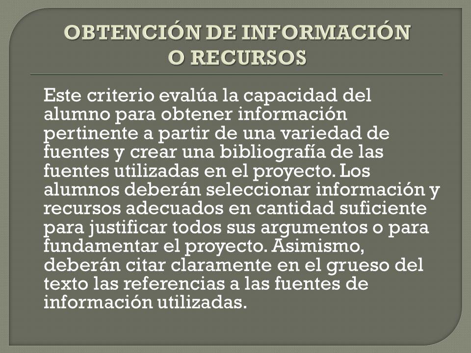 OBTENCIÓN DE INFORMACIÓN O RECURSOS