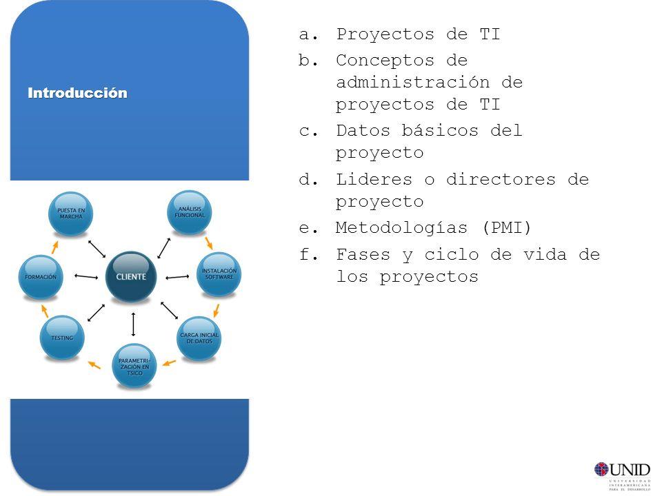 Conceptos de administración de proyectos de TI