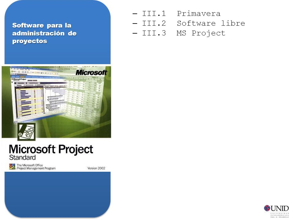 Software para la administración de proyectos