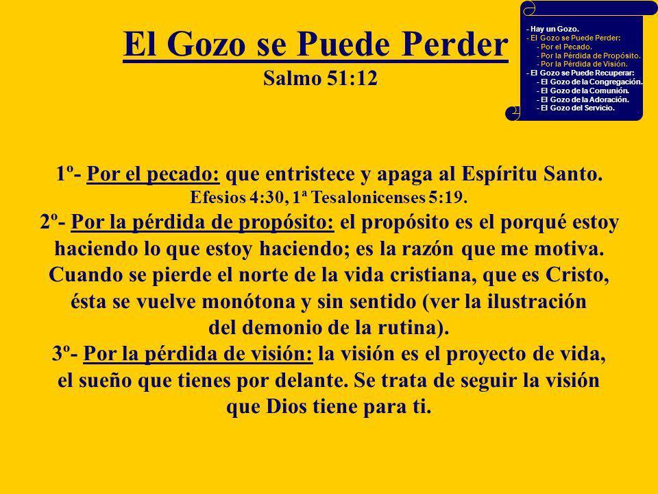 El Gozo se Puede Perder Salmo 51:12