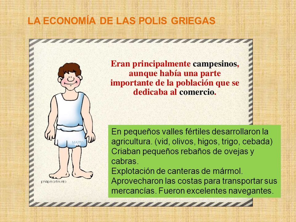 LA ECONOMÍA DE LAS POLIS GRIEGAS