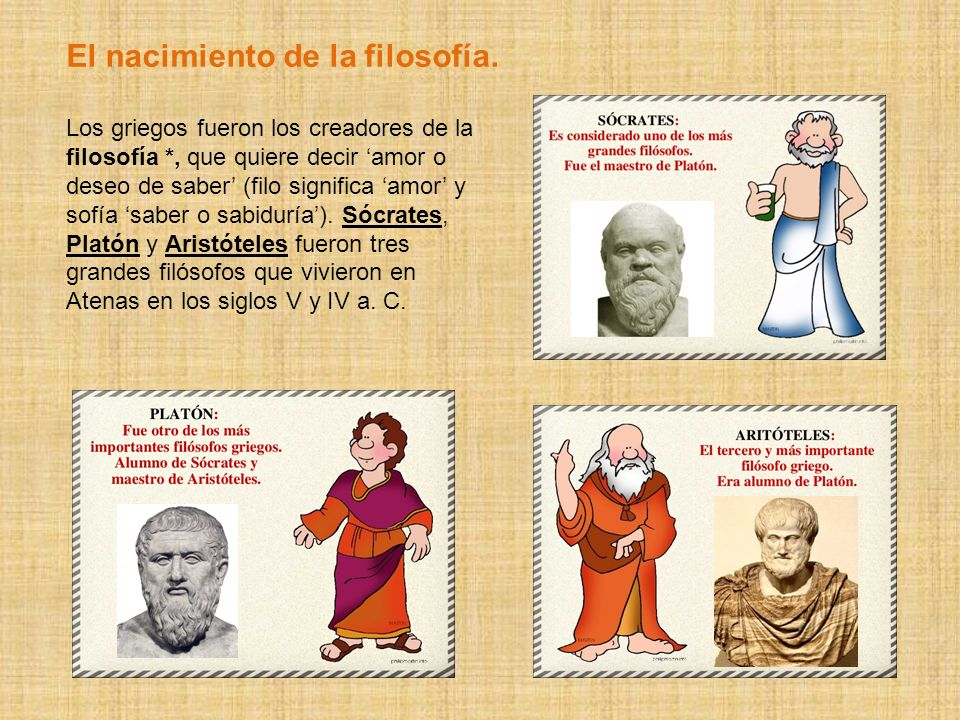 El nacimiento de la filosofía.