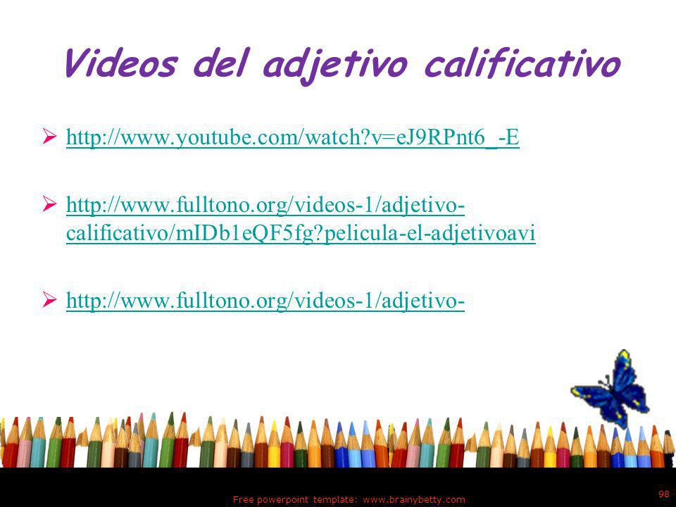 Videos del adjetivo calificativo