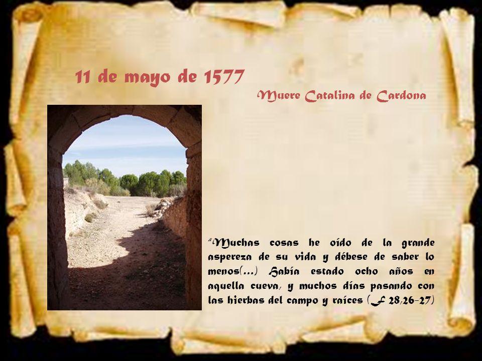 11 de mayo de 1577 Muere Catalina de Cardona