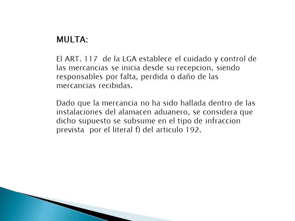 MULTA:
