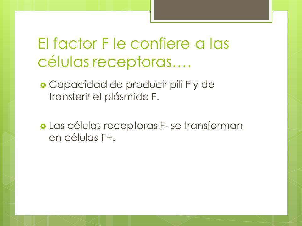 El factor F le confiere a las células receptoras….
