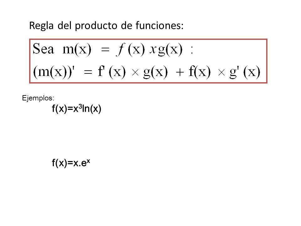 Regla del producto de funciones: