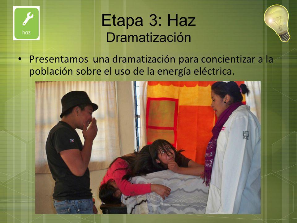 Etapa 3: Haz Dramatización
