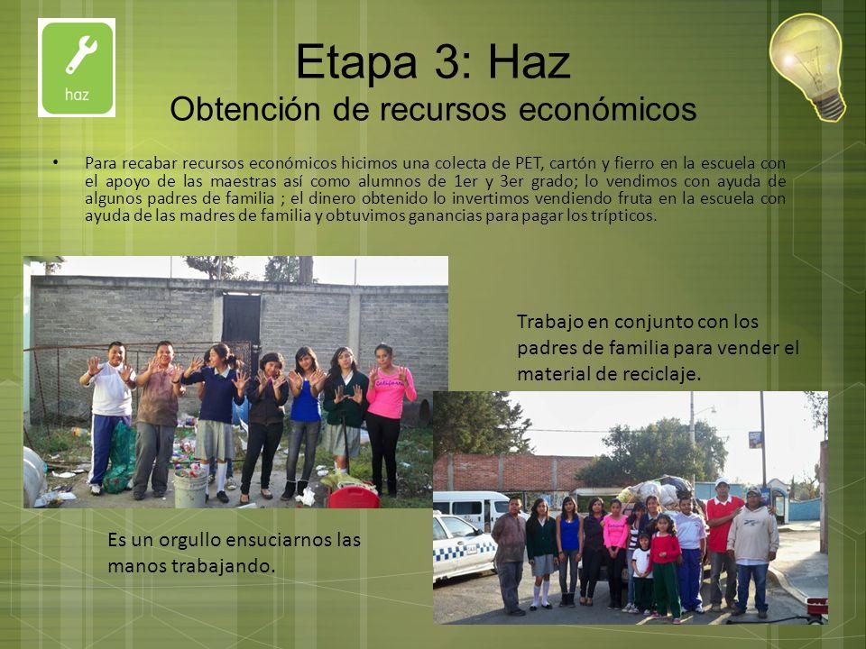 Etapa 3: Haz Obtención de recursos económicos