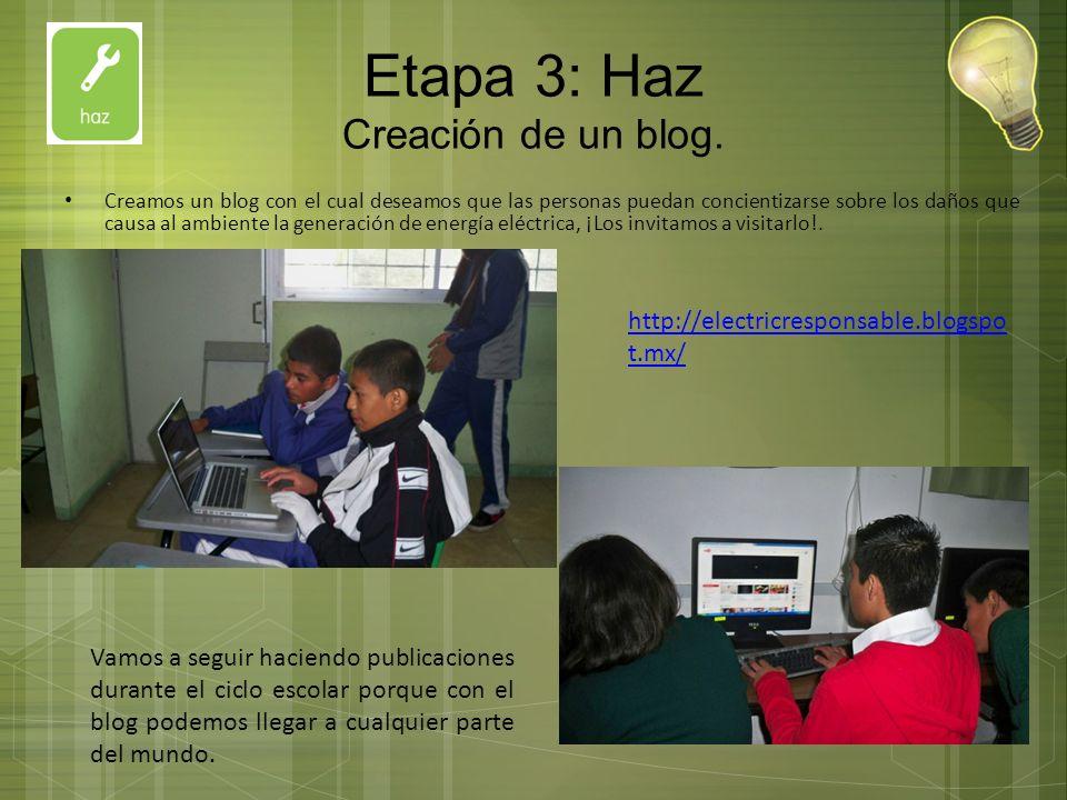 Etapa 3: Haz Creación de un blog.