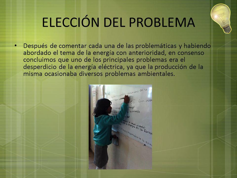 ELECCIÓN DEL PROBLEMA