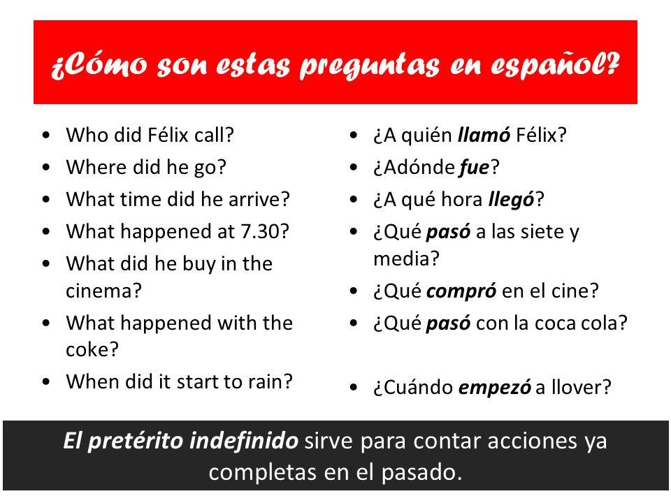 ¿Cómo son estas preguntas en español