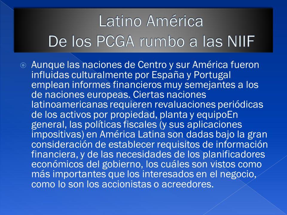 Latino América De los PCGA rumbo a las NIIF