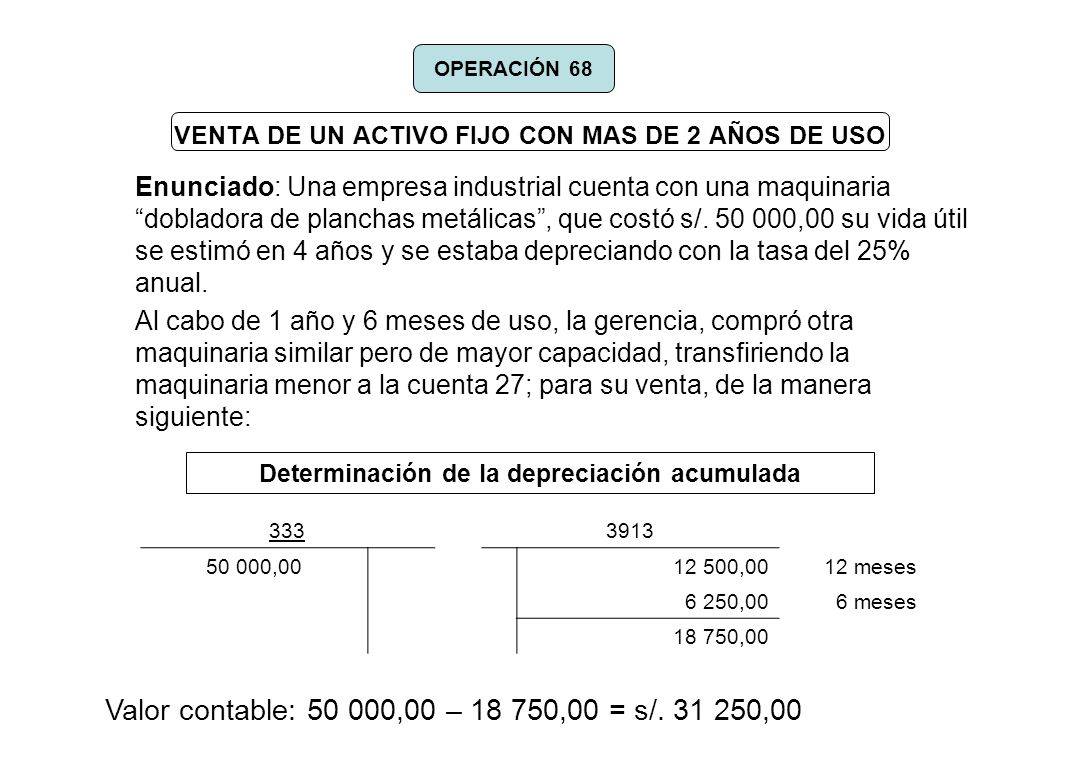 VENTA DE UN ACTIVO FIJO CON MAS DE 2 AÑOS DE USO