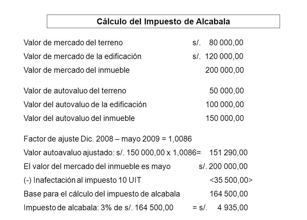 Cálculo del Impuesto de Alcabala