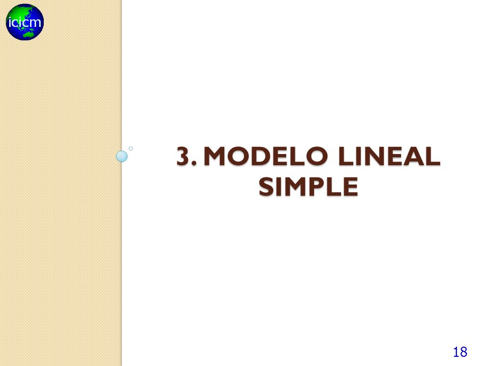3. MODELO lineal SIMPLE