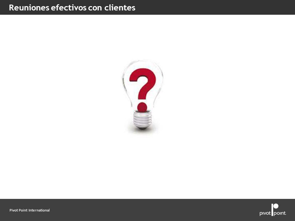 Reuniones efectivos con clientes