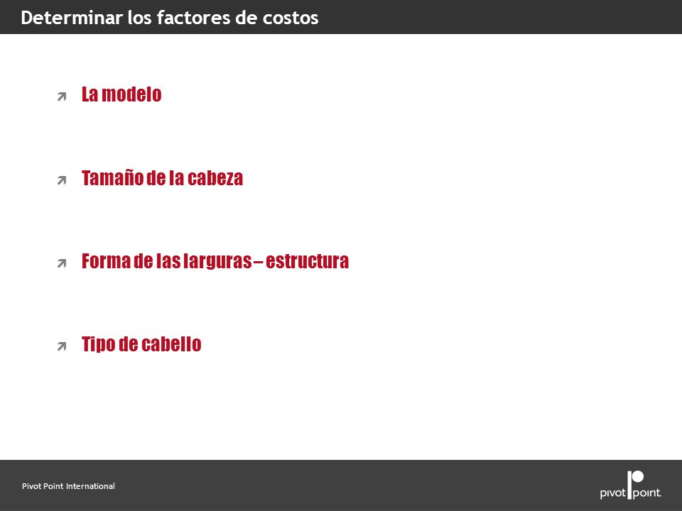 Determinar los factores de costos
