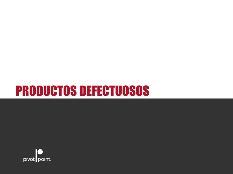 PRODUCTOS DEFECTUOSOS