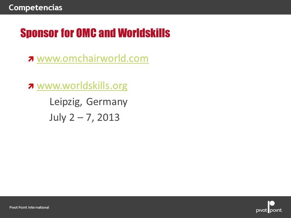 Sponsor for OMC and Worldskills www.omchairworld.com