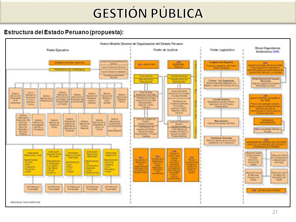 GESTIÓN PÚBLICA Estructura del Estado Peruano (propuesta):