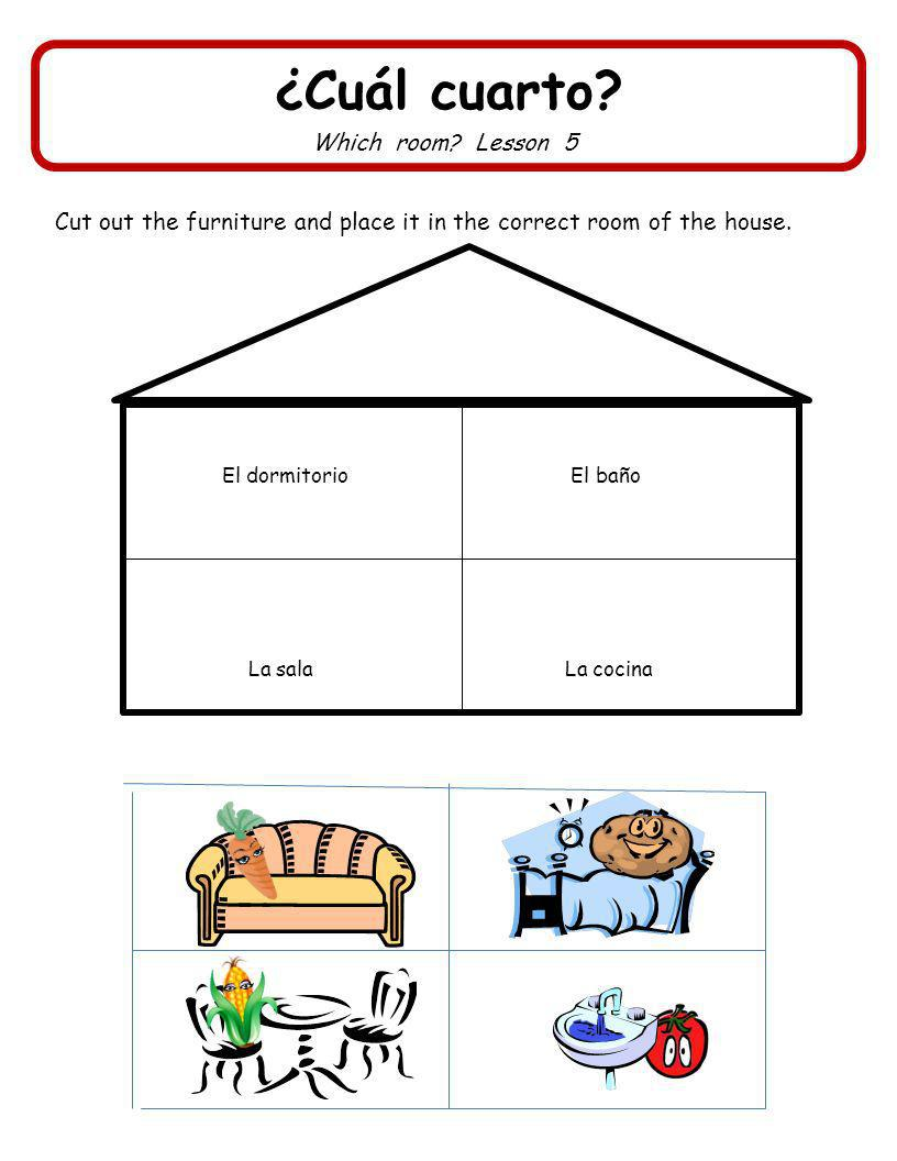 ¿Cuál cuarto Which room Lesson 5