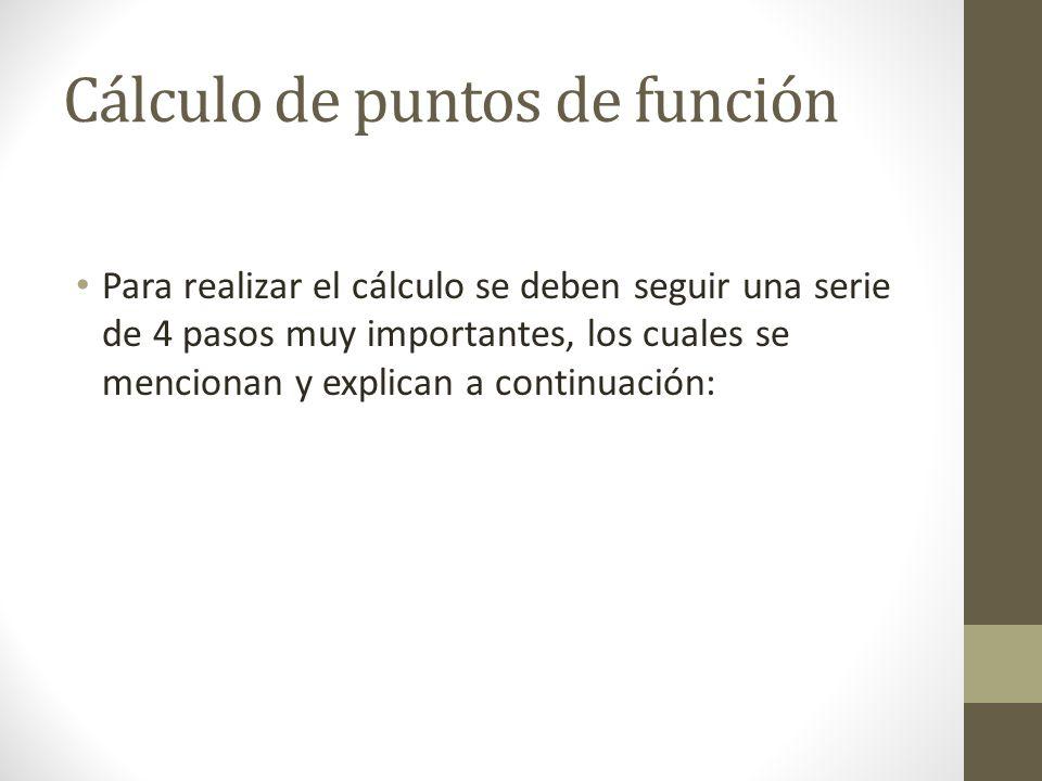 Cálculo de puntos de función