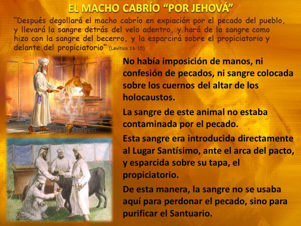 EL MACHO CABRÍO POR JEHOVÁ