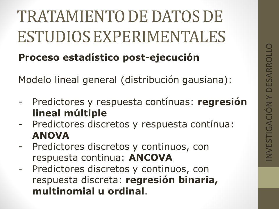 TRATAMIENTO DE DATOS DE ESTUDIOS EXPERIMENTALES