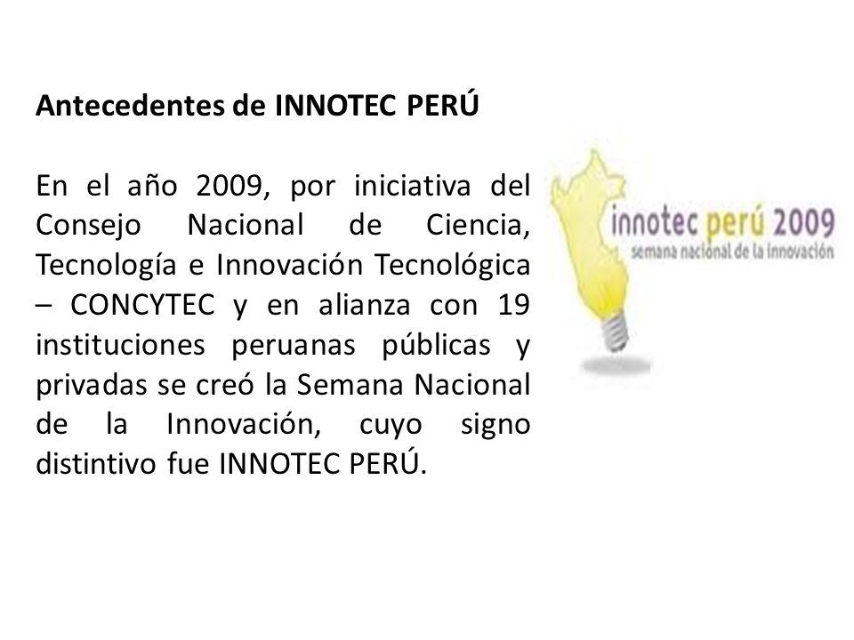 Antecedentes de INNOTEC PERÚ