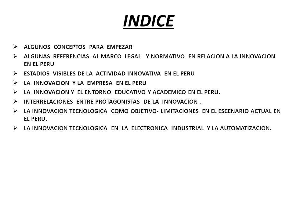 INDICE ALGUNOS CONCEPTOS PARA EMPEZAR