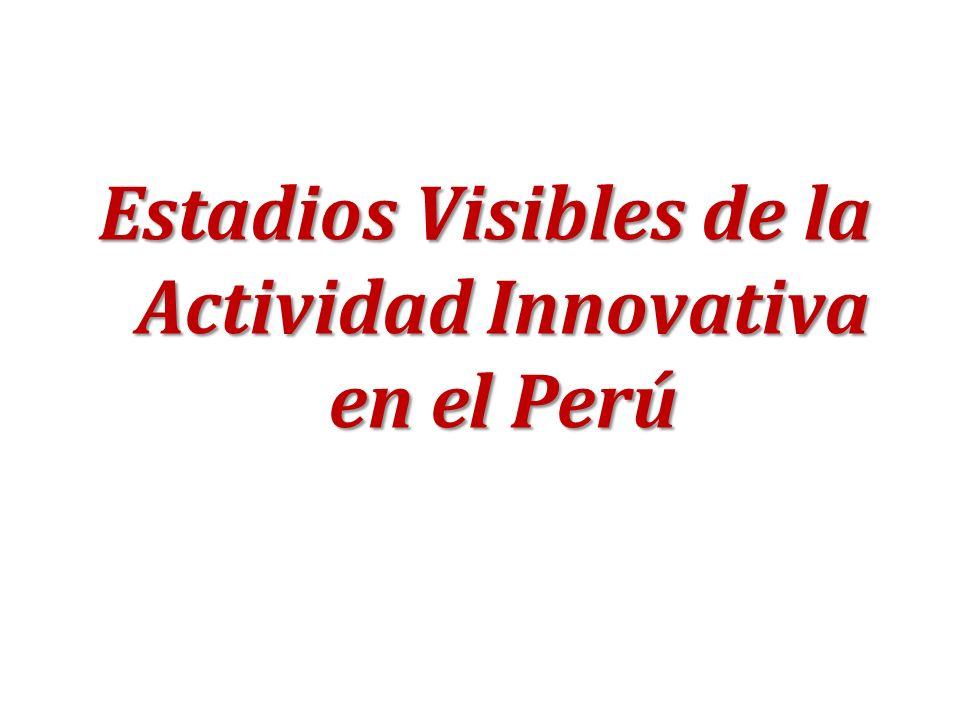 Estadios Visibles de la Actividad Innovativa en el Perú