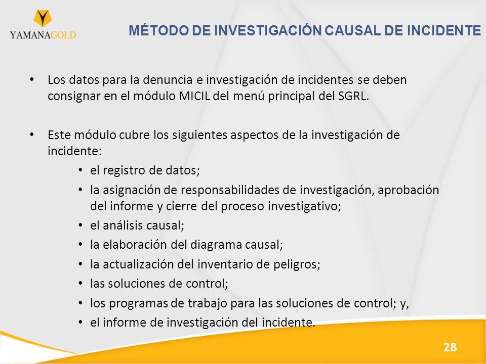 Método de investigación causal de incidente