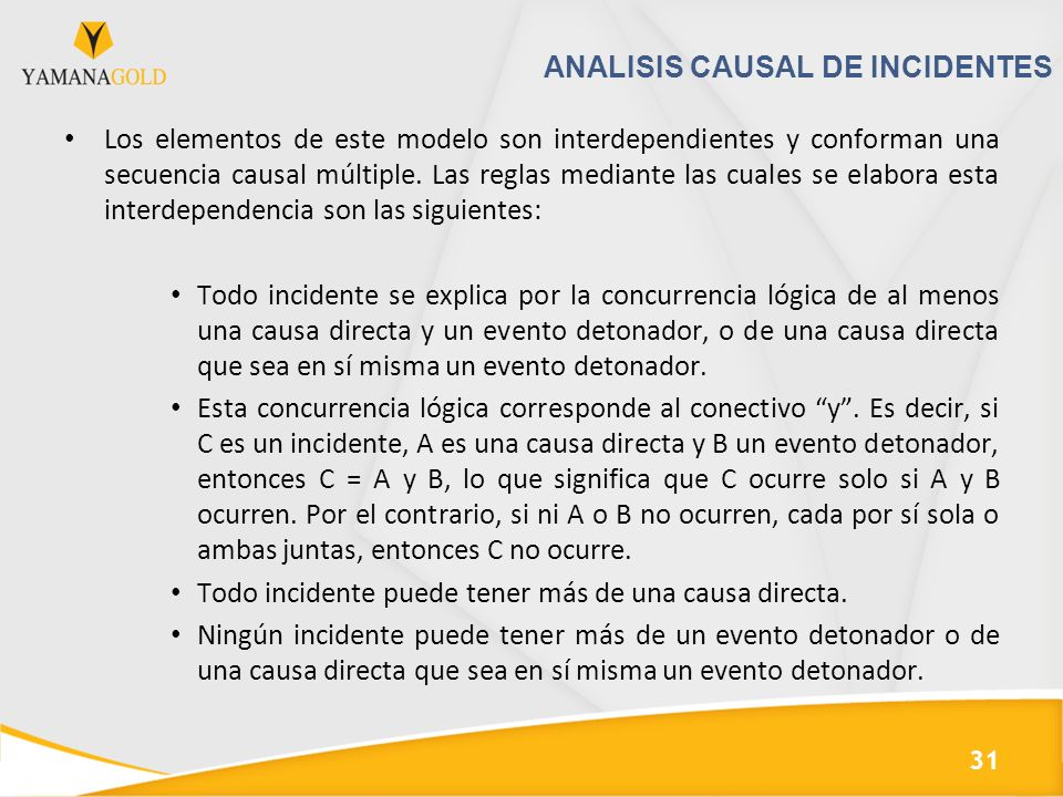 ANALISIS CAUSAL DE INCIDENTES