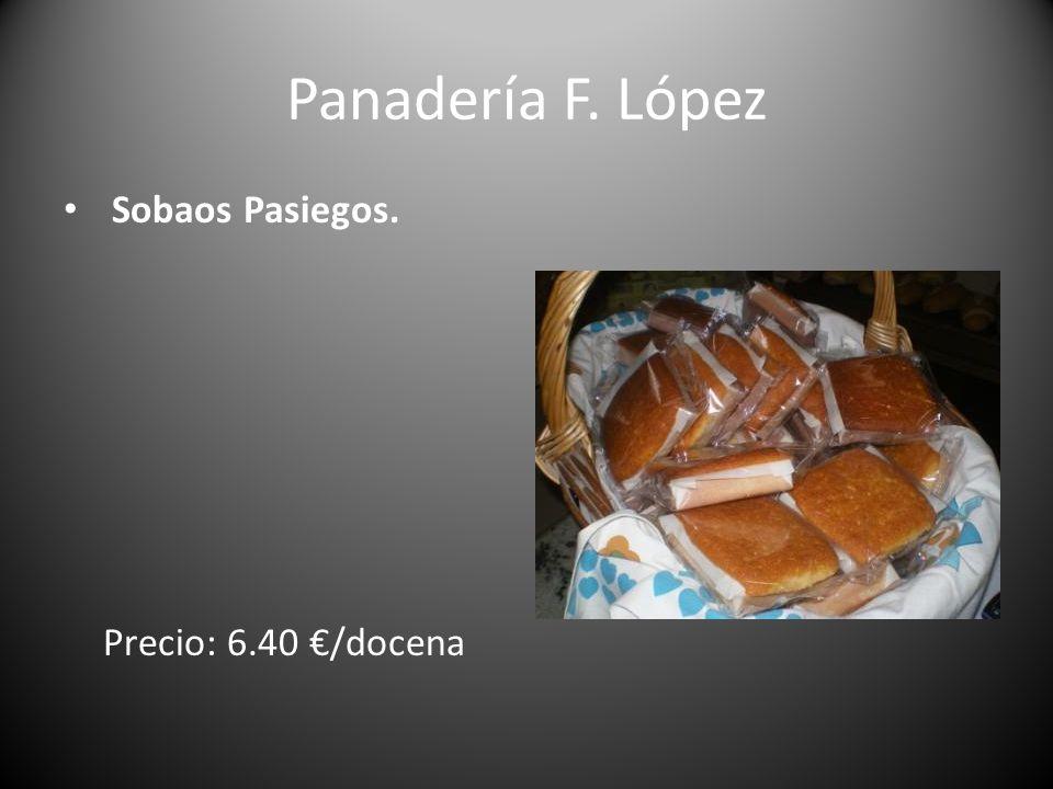 Panadería F. López Sobaos Pasiegos. Precio: 6.40 €/docena