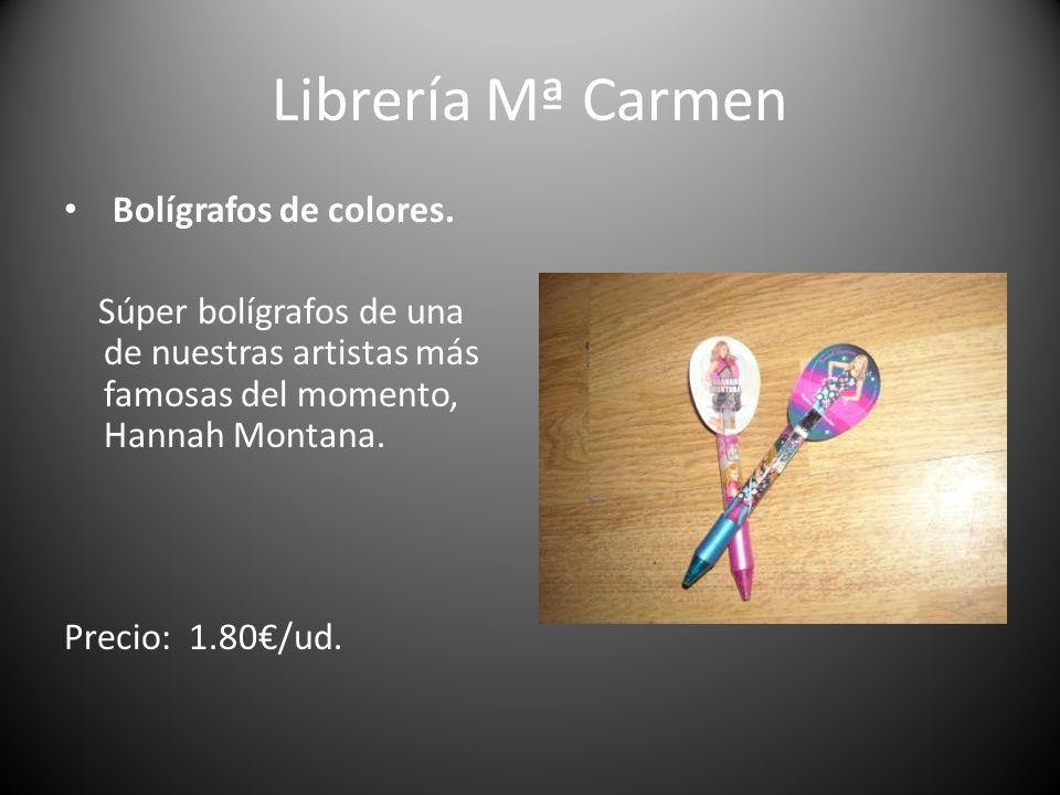 Librería Mª Carmen Bolígrafos de colores.