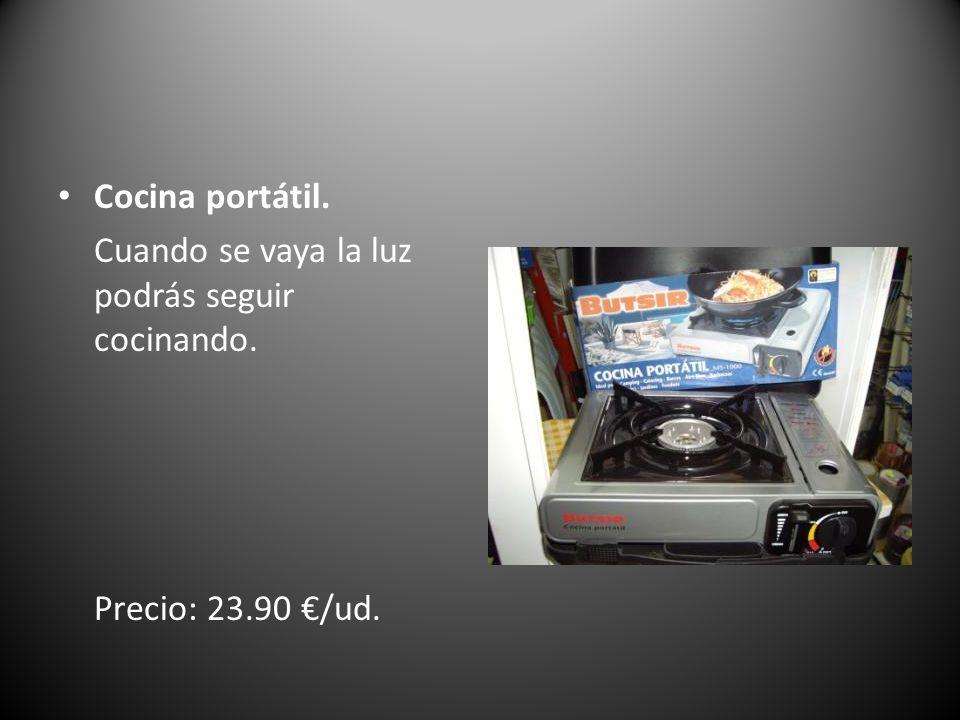 Cocina portátil. Cuando se vaya la luz podrás seguir cocinando. Precio: 23.90 €/ud.