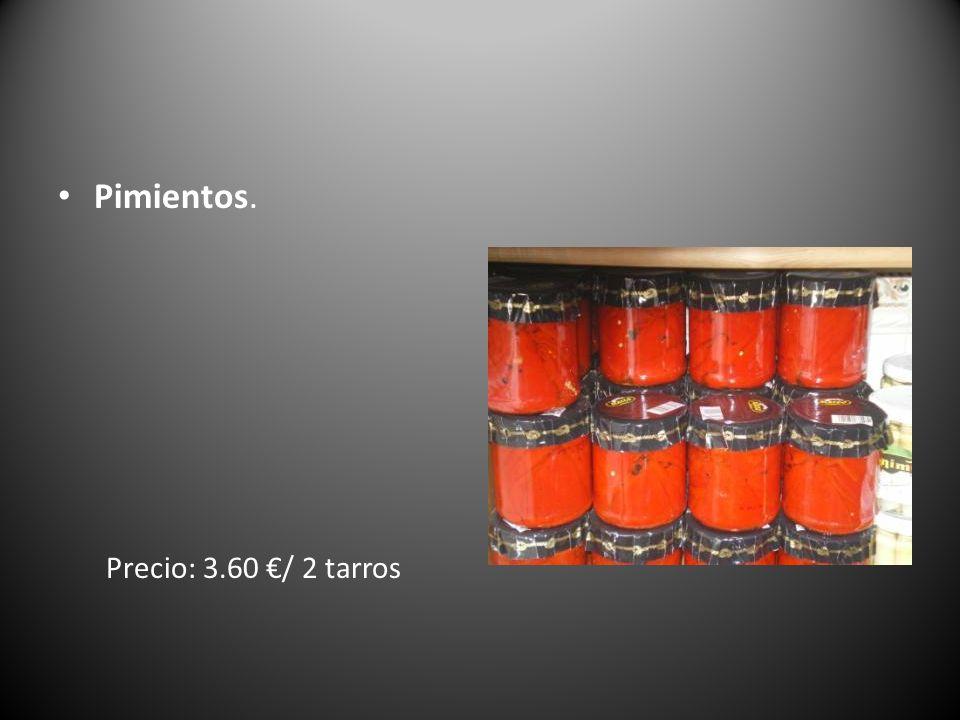 Pimientos. Precio: 3.60 €/ 2 tarros