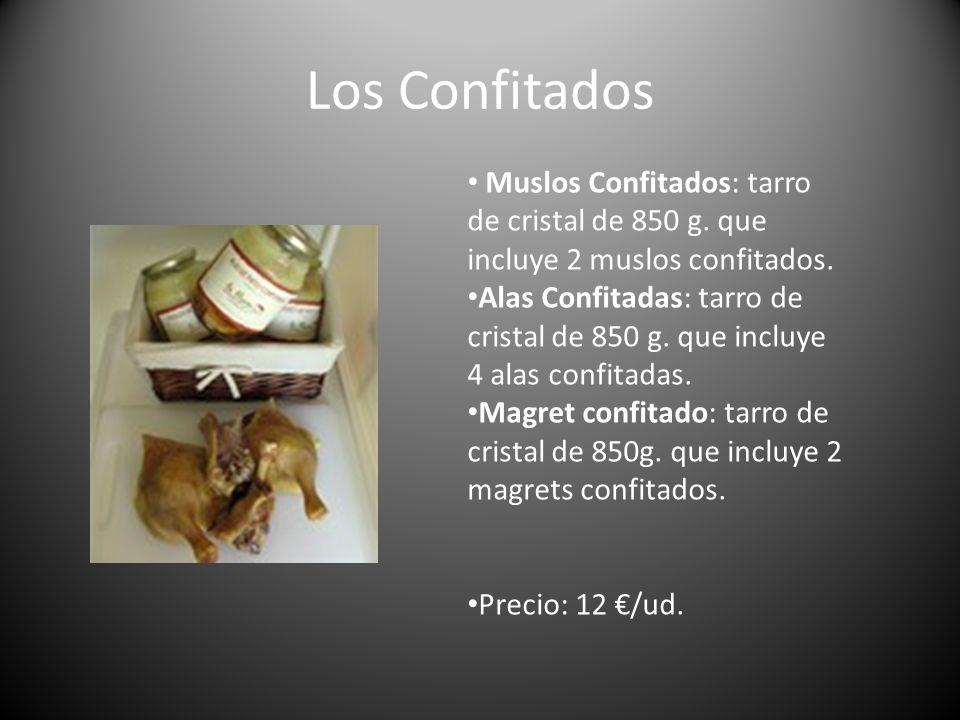 Los Confitados Muslos Confitados: tarro de cristal de 850 g. que incluye 2 muslos confitados.