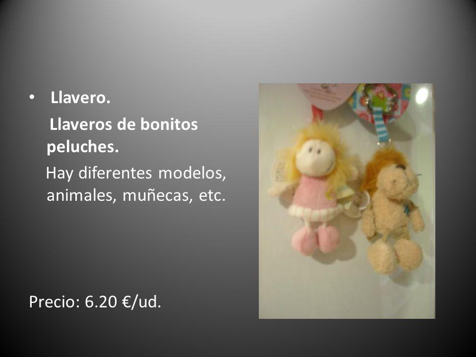 Llavero.Llaveros de bonitos peluches.Hay diferentes modelos, animales, muñecas, etc.